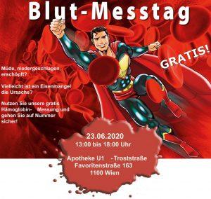 Blutmesstag in der APOTHEKE U1 TROSTSTRASSE am 23.06.2020